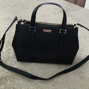 Black Kate spade cross body/arm bag